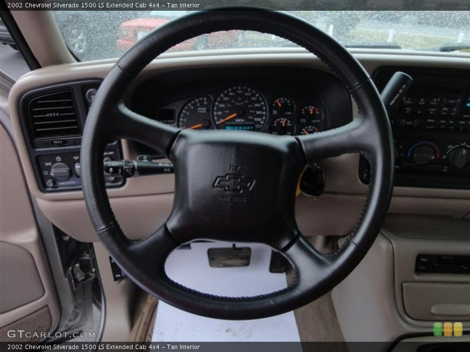 Tan Interior Steering Wheel for the 2002 Chevrolet Silverado 1500 LS Extended Cab 4x4 #77889852