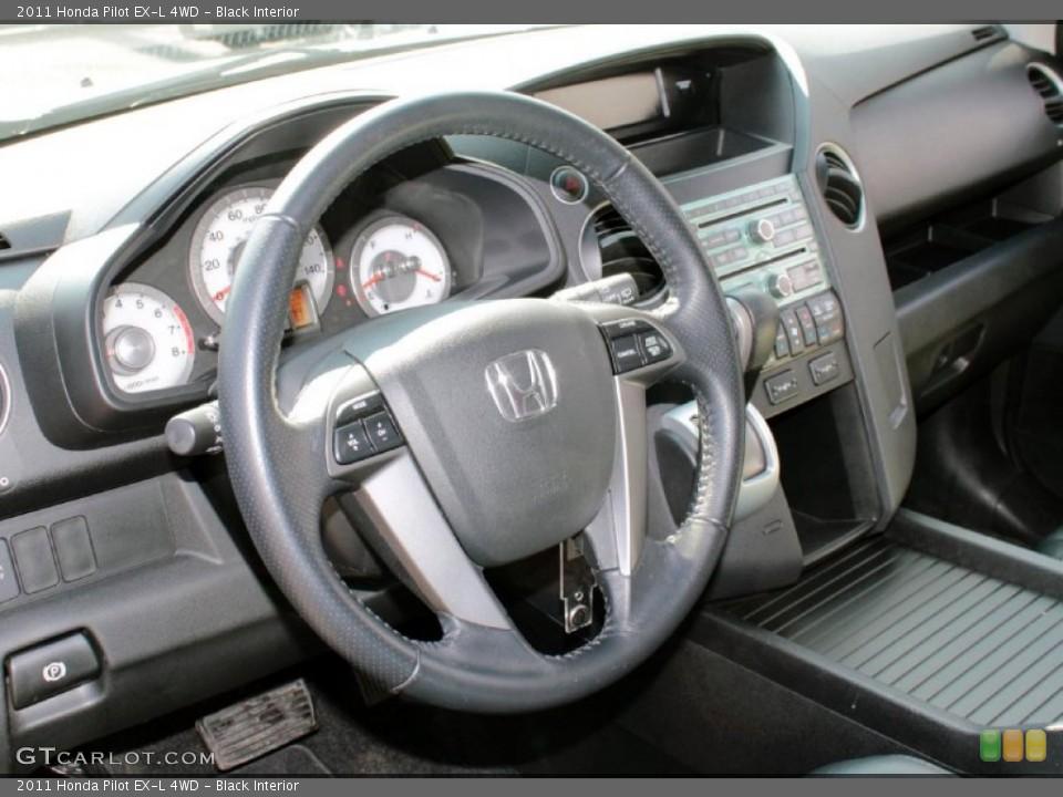 Black Interior Dashboard for the 2011 Honda Pilot EX-L 4WD #77902798