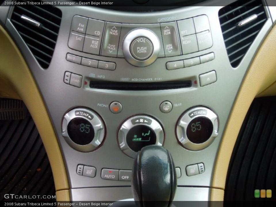 Desert Beige Interior Controls for the 2008 Subaru Tribeca Limited 5 Passenger #77923330