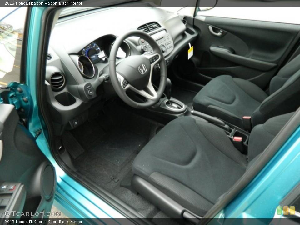 Sport Black 2013 Honda Fit Interiors