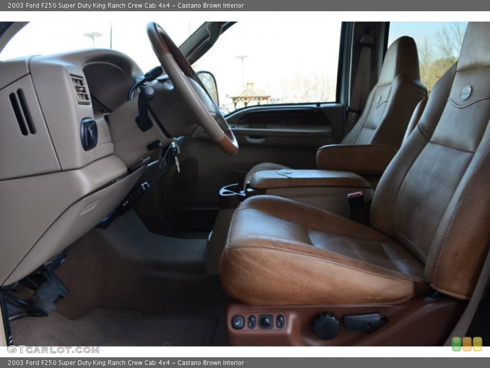 Castano Brown Interior Photo for the 2003 Ford F250 Super Duty King Ranch Crew Cab 4x4 #78087001