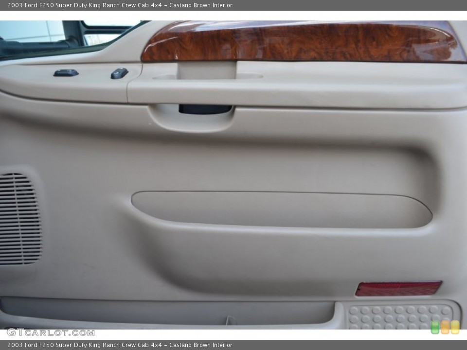 Castano Brown Interior Door Panel for the 2003 Ford F250 Super Duty King Ranch Crew Cab 4x4 #78087125