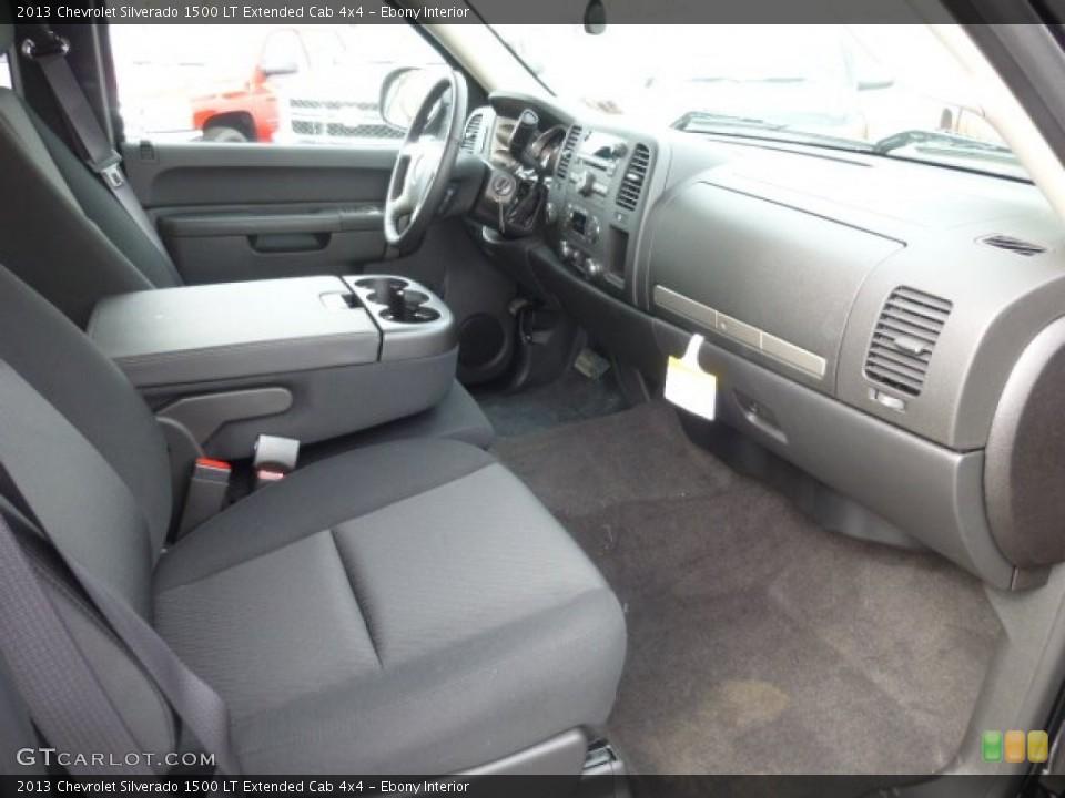Ebony Interior Photo for the 2013 Chevrolet Silverado 1500 LT Extended Cab 4x4 #78101546