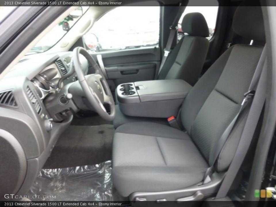 Ebony Interior Photo for the 2013 Chevrolet Silverado 1500 LT Extended Cab 4x4 #78101627