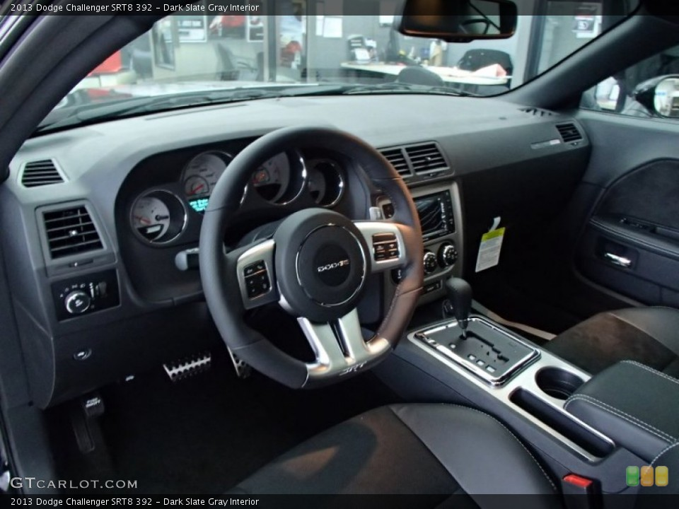 Dark Slate Gray Interior Prime Interior for the 2013 Dodge Challenger SRT8 392 #78134696
