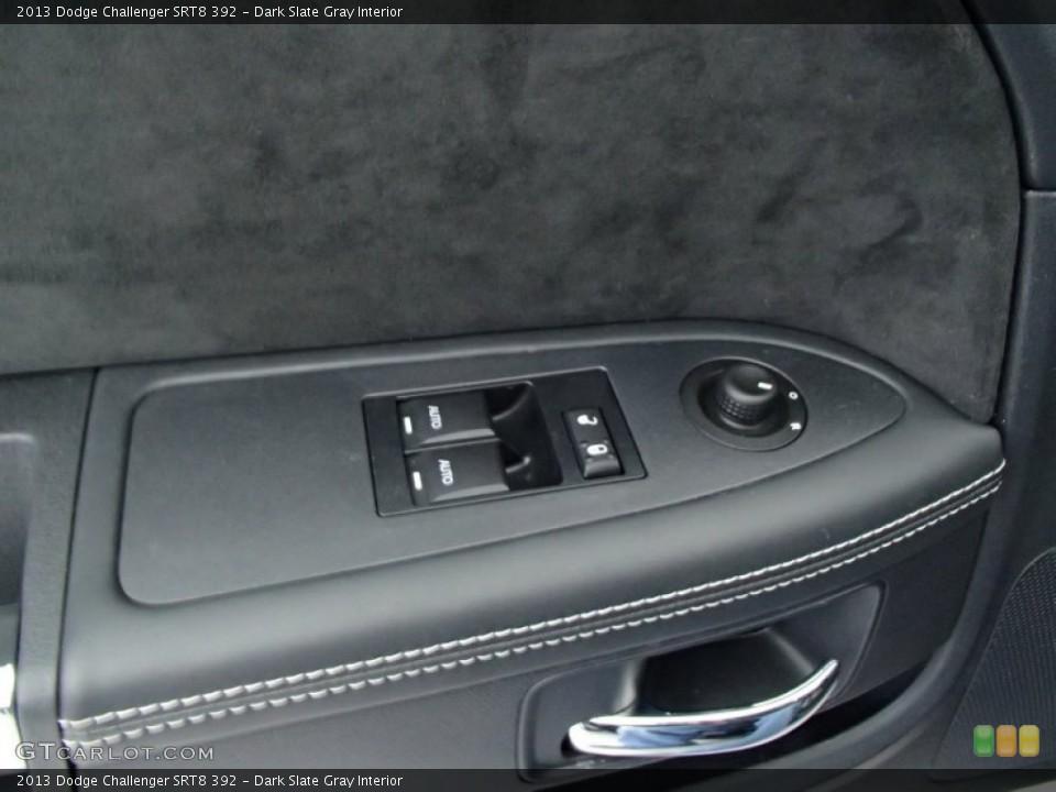 Dark Slate Gray Interior Controls for the 2013 Dodge Challenger SRT8 392 #78134793