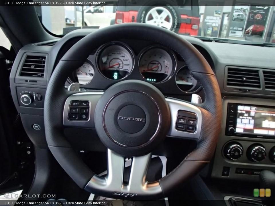 Dark Slate Gray Interior Steering Wheel for the 2013 Dodge Challenger SRT8 392 #78134862
