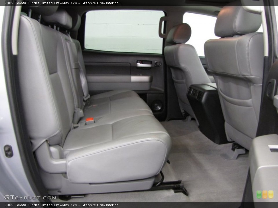 Graphite Gray Interior Rear Seat for the 2009 Toyota Tundra Limited CrewMax 4x4 #78175473