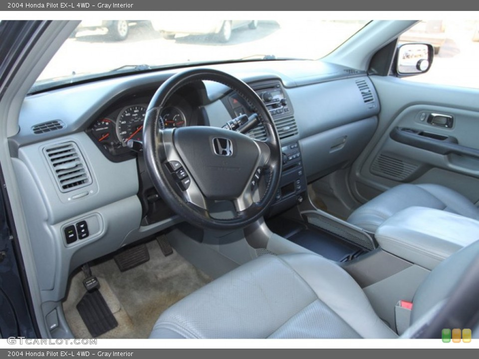 Gray Interior Prime Interior for the 2004 Honda Pilot EX-L 4WD #78217472