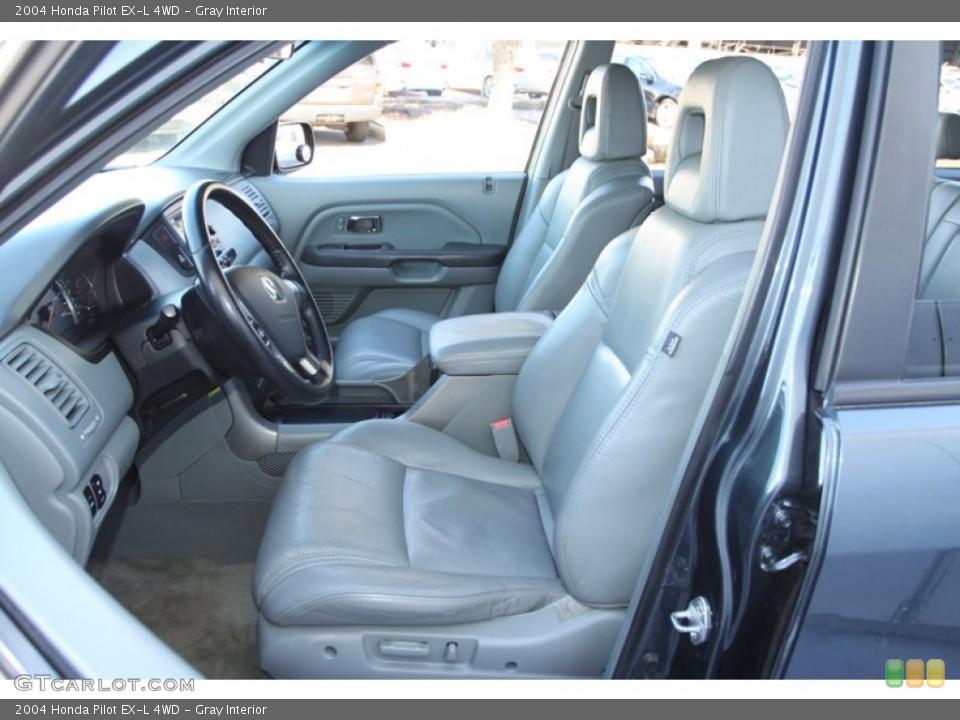 Gray Interior Photo for the 2004 Honda Pilot EX-L 4WD #78217498