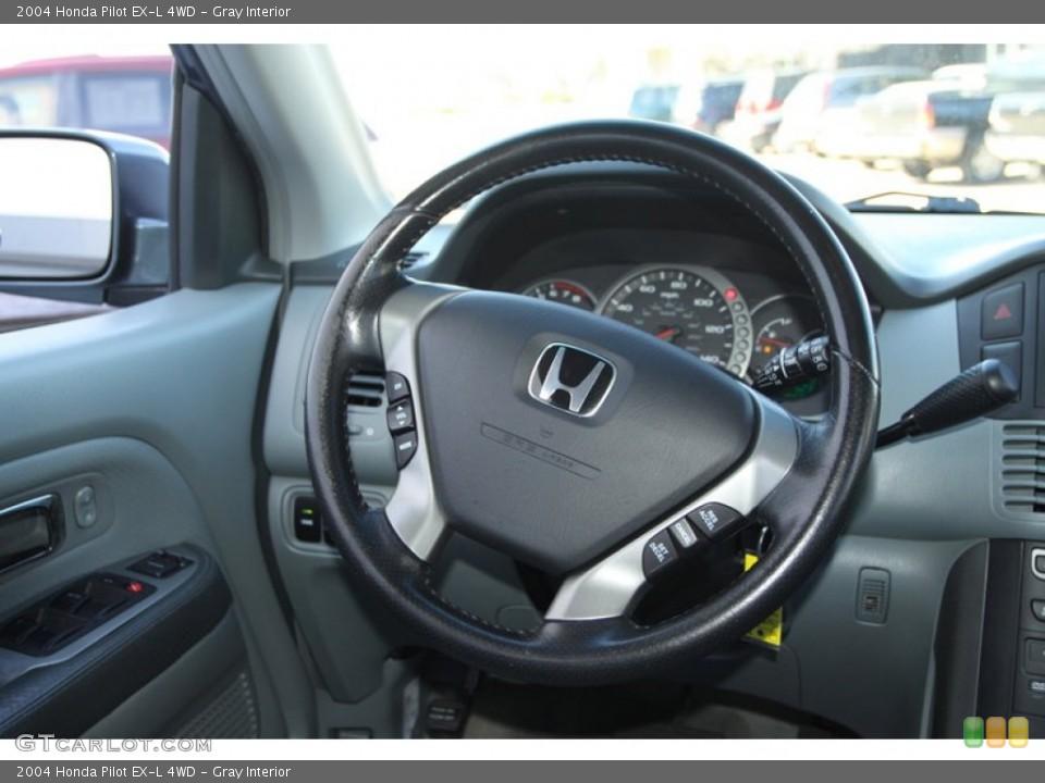 Gray Interior Steering Wheel for the 2004 Honda Pilot EX-L 4WD #78217702