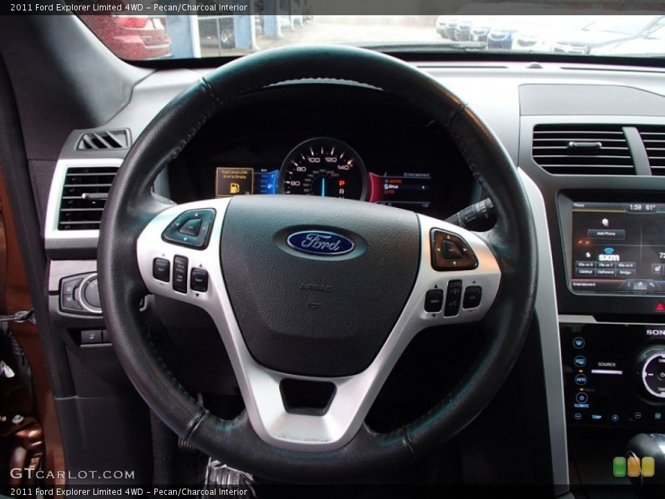 Pecan/Charcoal Interior Steering Wheel for the 2011 Ford Explorer Limited 4WD #78241420