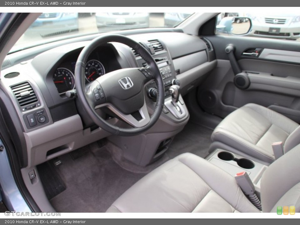 Gray Interior Prime Interior for the 2010 Honda CR-V EX-L AWD #78247060