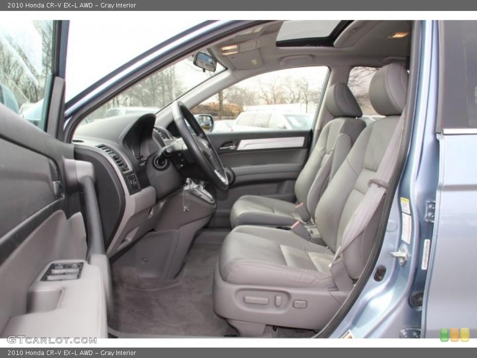 Gray Interior Front Seat for the 2010 Honda CR-V EX-L AWD #78247076
