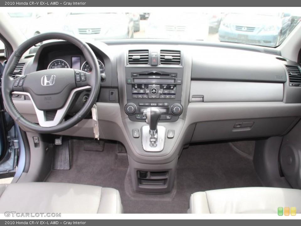 Gray Interior Dashboard for the 2010 Honda CR-V EX-L AWD #78247093