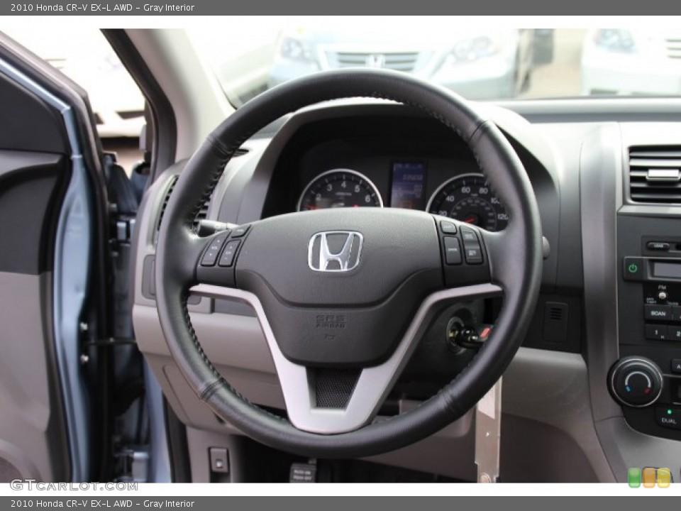 Gray Interior Steering Wheel for the 2010 Honda CR-V EX-L AWD #78247149