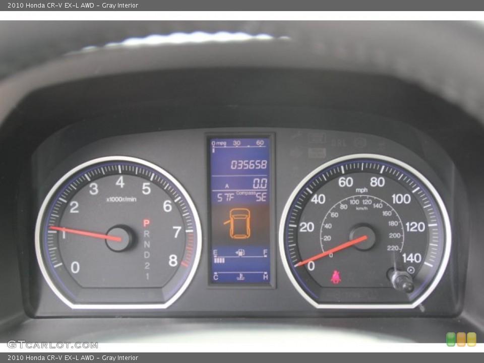 Gray Interior Gauges for the 2010 Honda CR-V EX-L AWD #78247168