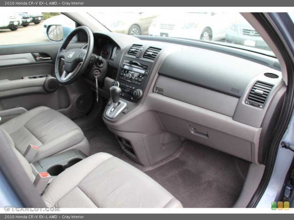 Gray Interior Dashboard for the 2010 Honda CR-V EX-L AWD #78247282