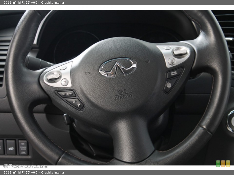 Graphite Interior Steering Wheel for the 2012 Infiniti FX 35 AWD #78266907