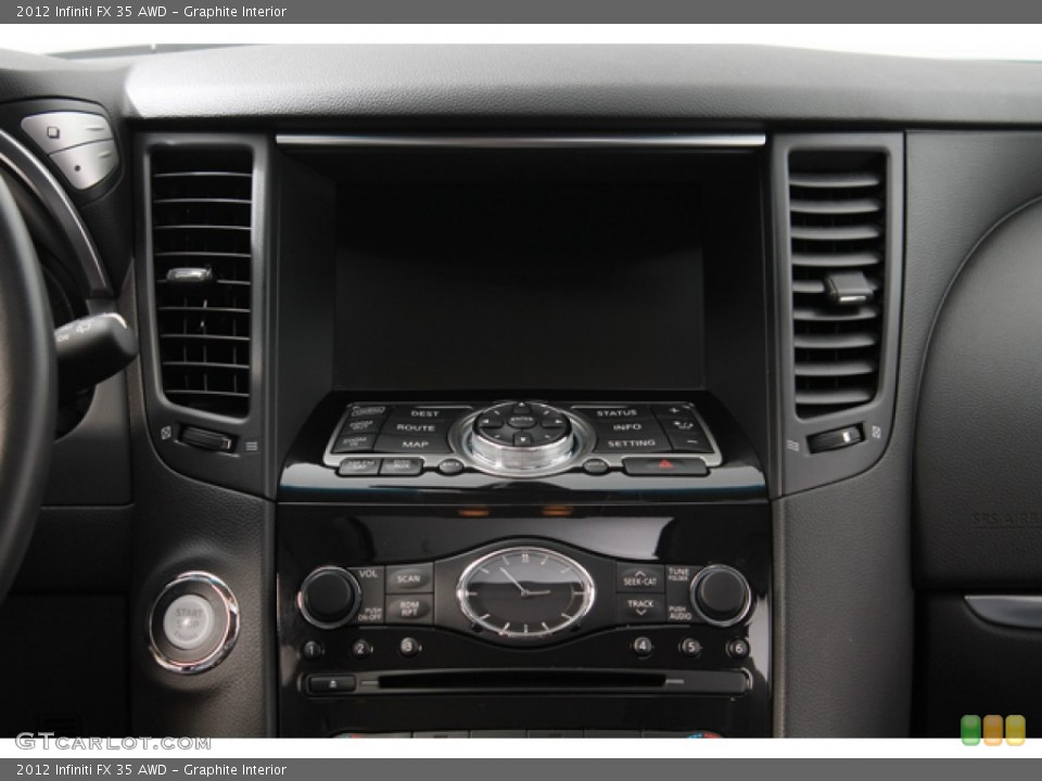 Graphite Interior Controls for the 2012 Infiniti FX 35 AWD #78266969