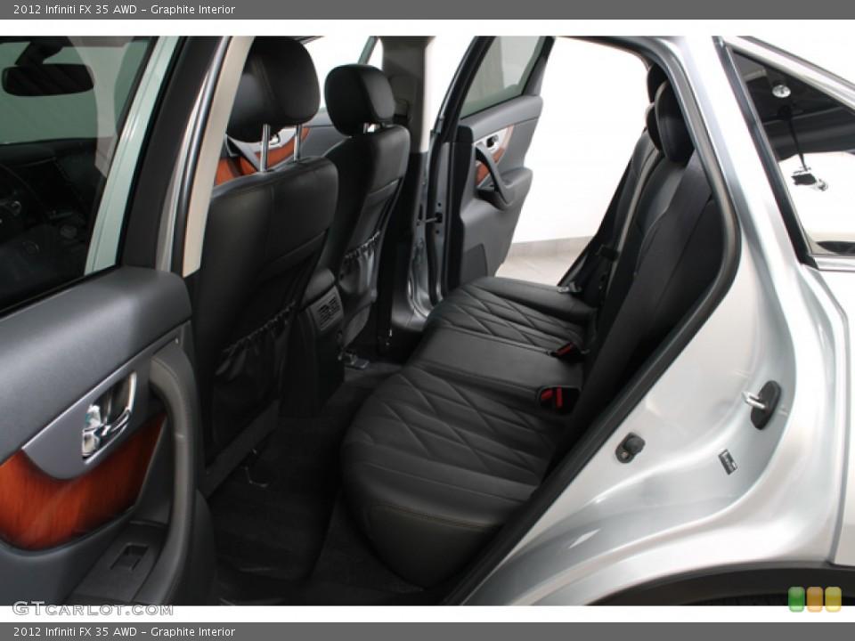 Graphite Interior Rear Seat for the 2012 Infiniti FX 35 AWD #78267229