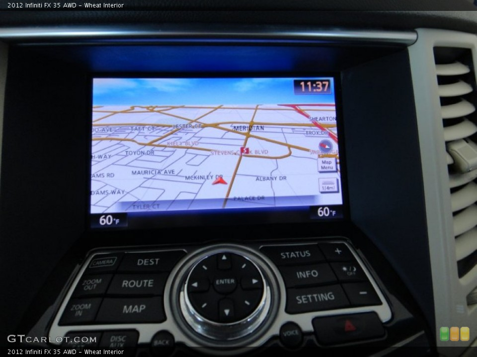 Wheat Interior Navigation for the 2012 Infiniti FX 35 AWD #78275146