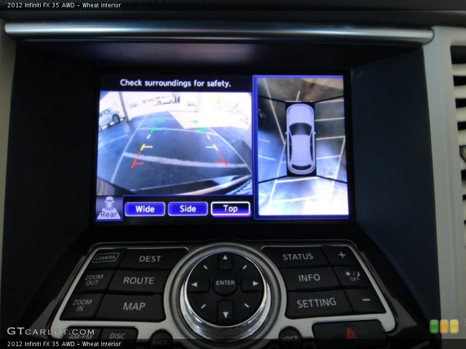 Wheat Interior Controls for the 2012 Infiniti FX 35 AWD #78275164