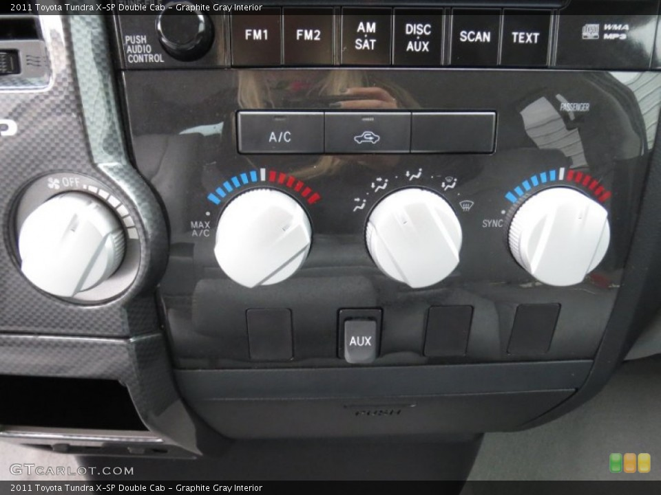 Graphite Gray Interior Controls for the 2011 Toyota Tundra X-SP Double Cab #78368535