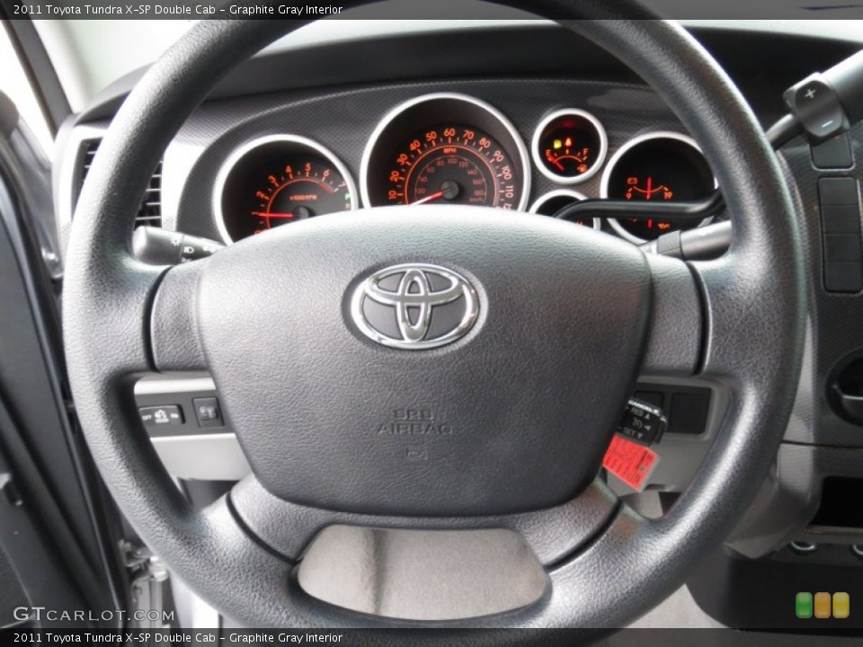 Graphite Gray Interior Steering Wheel for the 2011 Toyota Tundra X-SP Double Cab #78368553