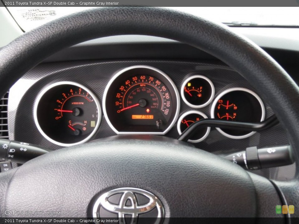 Graphite Gray Interior Gauges for the 2011 Toyota Tundra X-SP Double Cab #78368570