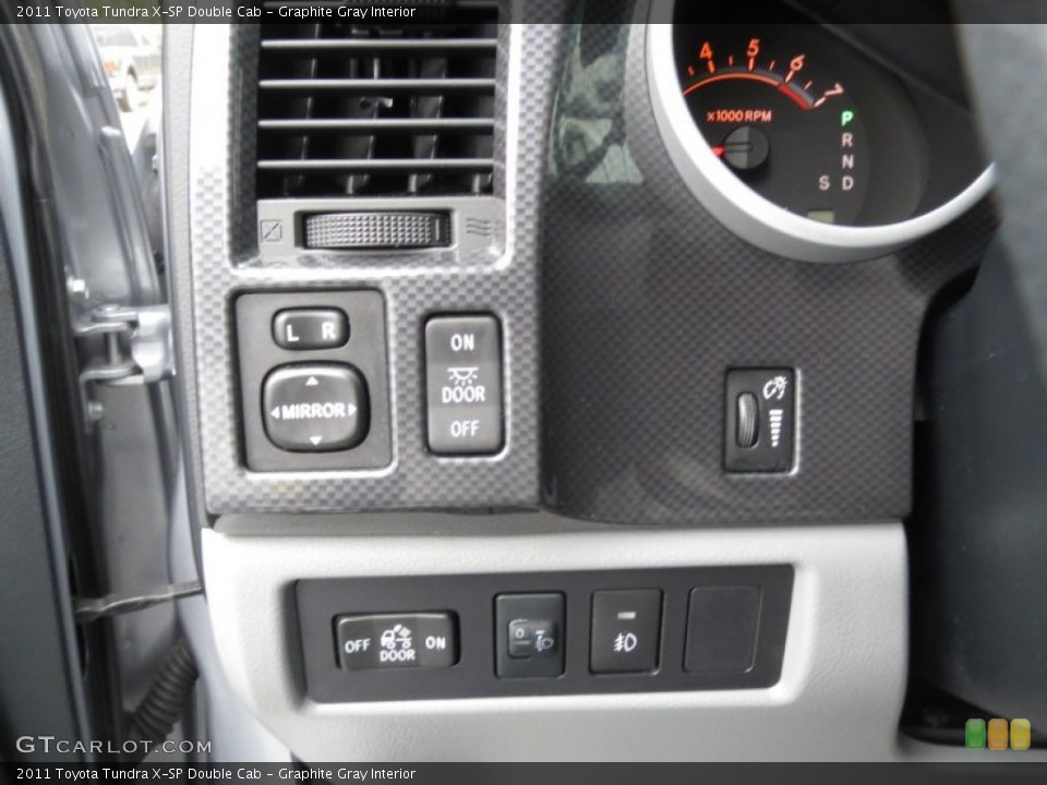 Graphite Gray Interior Controls for the 2011 Toyota Tundra X-SP Double Cab #78368604