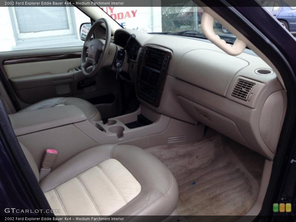 Medium Parchment Interior Dashboard for the 2002 Ford Explorer Eddie Bauer 4x4 #78524349