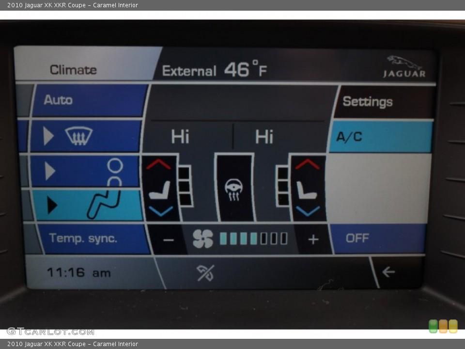 Caramel Interior Controls for the 2010 Jaguar XK XKR Coupe #78562268
