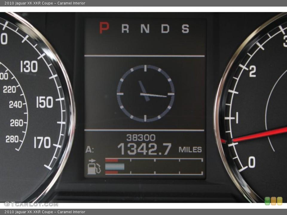 Caramel Interior Gauges for the 2010 Jaguar XK XKR Coupe #78562324