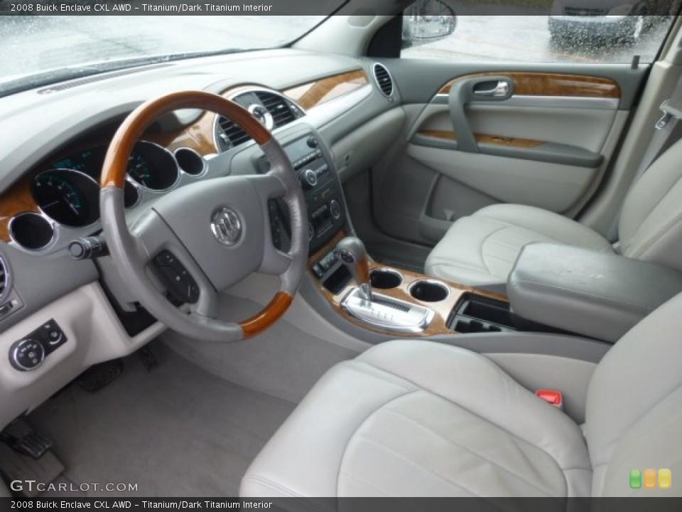 Titanium/Dark Titanium 2008 Buick Enclave Interiors