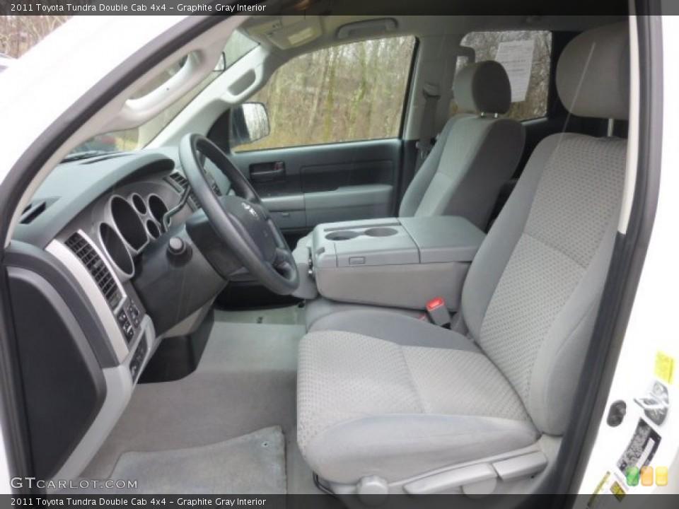 Graphite Gray Interior Photo for the 2011 Toyota Tundra Double Cab 4x4 #78574800