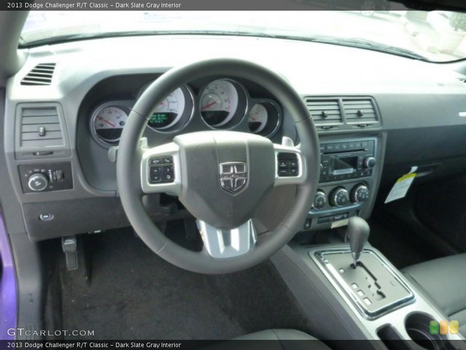 Dark Slate Gray Interior Dashboard for the 2013 Dodge Challenger R/T Classic #78636519