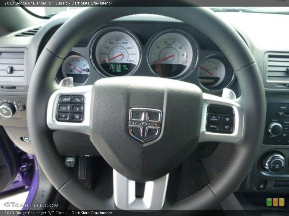 Dark Slate Gray Interior Steering Wheel for the 2013 Dodge Challenger R/T Classic #78636537