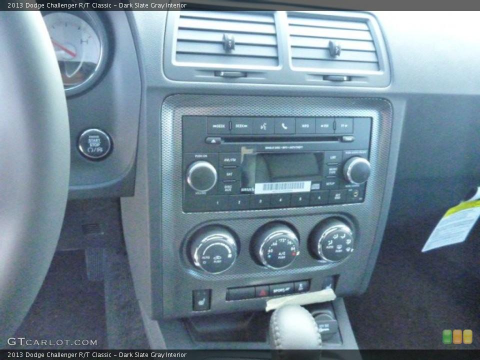 Dark Slate Gray Interior Controls for the 2013 Dodge Challenger R/T Classic #78636552