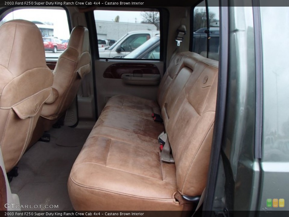 Castano Brown Interior Rear Seat for the 2003 Ford F250 Super Duty King Ranch Crew Cab 4x4 #78641833