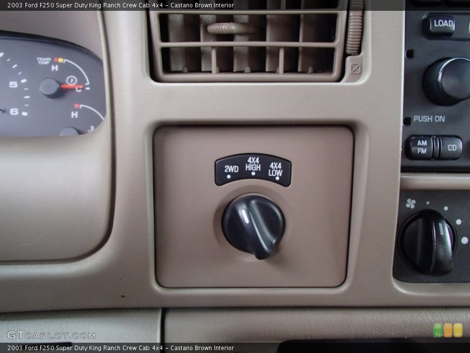 Castano Brown Interior Controls for the 2003 Ford F250 Super Duty King Ranch Crew Cab 4x4 #78641876