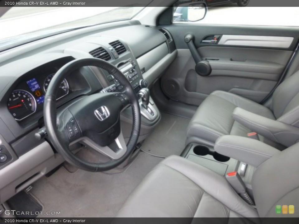 Gray Interior Prime Interior for the 2010 Honda CR-V EX-L AWD #78719225