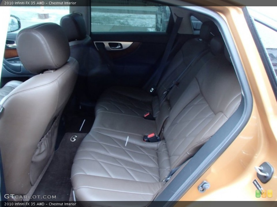 Chestnut Interior Rear Seat for the 2010 Infiniti FX 35 AWD #78764924