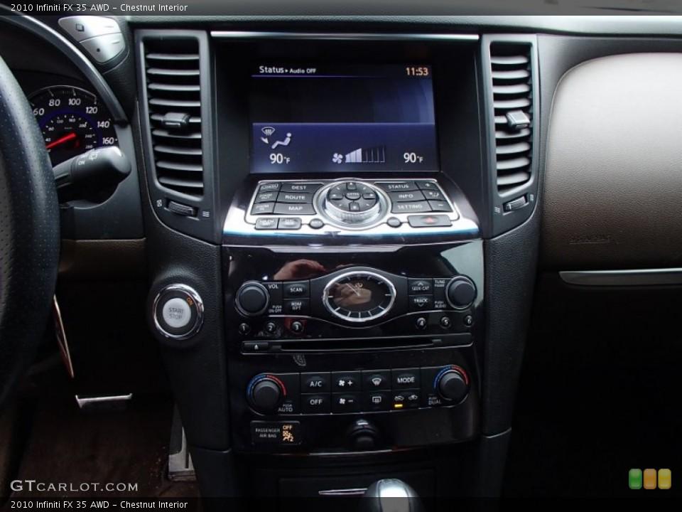 Chestnut Interior Controls for the 2010 Infiniti FX 35 AWD #78764988