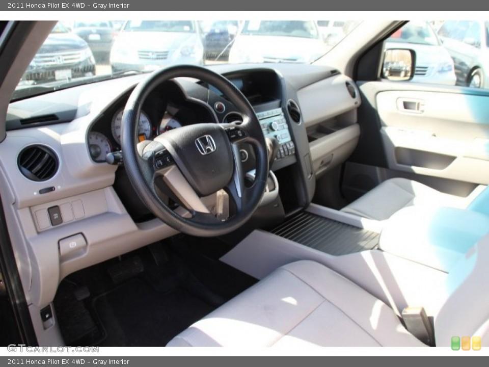 Gray Interior Prime Interior for the 2011 Honda Pilot EX 4WD #78772025
