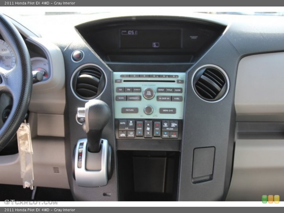 Gray Interior Controls for the 2011 Honda Pilot EX 4WD #78772067