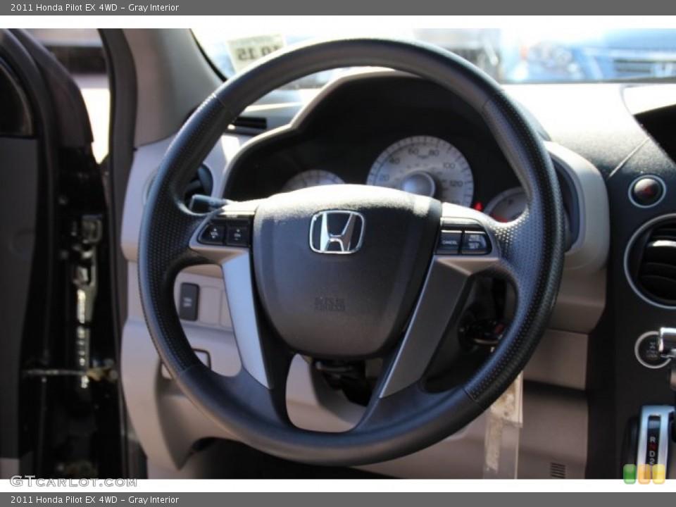 Gray Interior Steering Wheel for the 2011 Honda Pilot EX 4WD #78772084