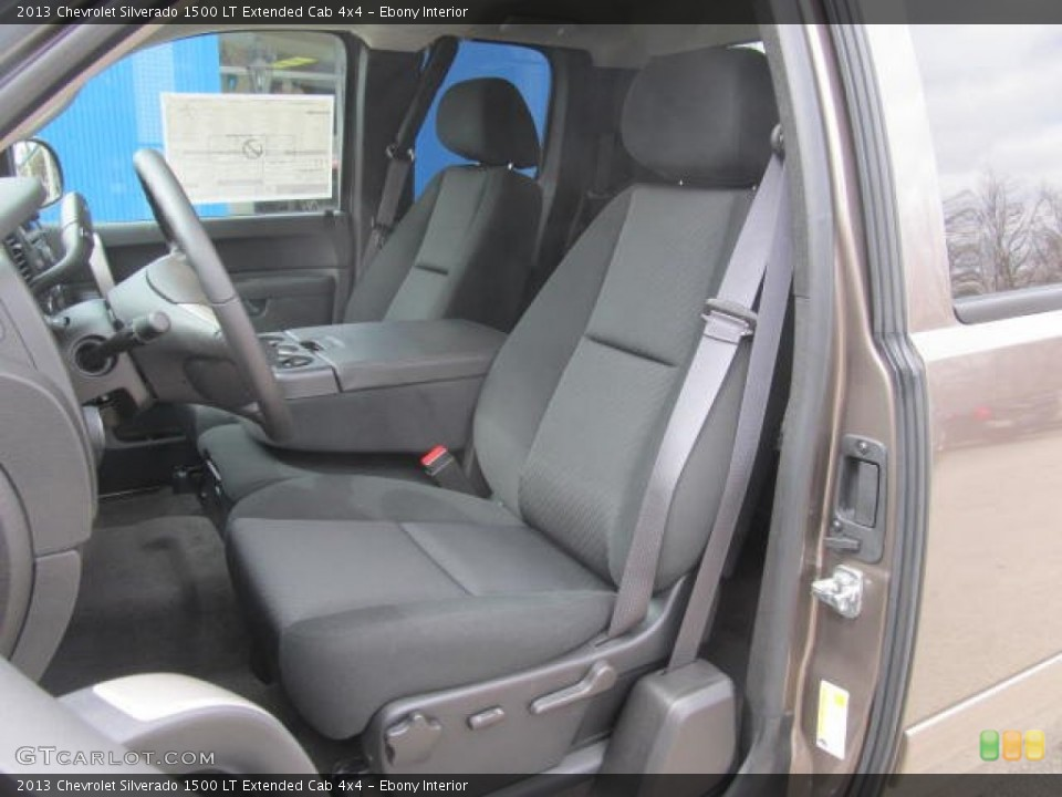 Ebony Interior Front Seat for the 2013 Chevrolet Silverado 1500 LT Extended Cab 4x4 #78778842
