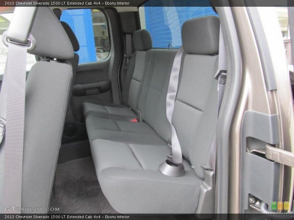 Ebony Interior Rear Seat for the 2013 Chevrolet Silverado 1500 LT Extended Cab 4x4 #78778856