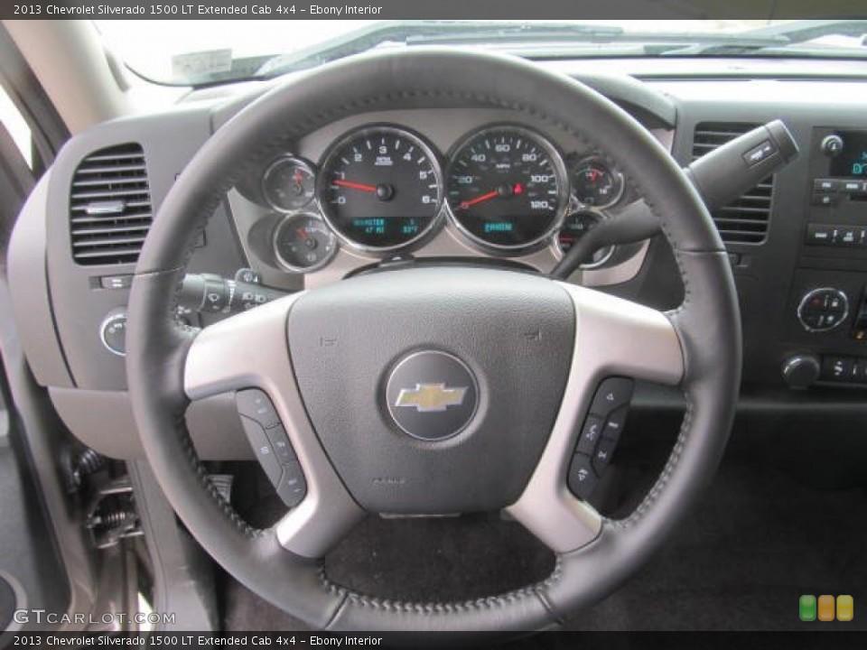 Ebony Interior Steering Wheel for the 2013 Chevrolet Silverado 1500 LT Extended Cab 4x4 #78778877